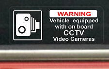 2 х Vehicle Equipped With On Board CCTV Video Cameras Sticker Car Taxi Cab Bus