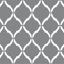 "Moroccan Wall Stencil LARGE 12""x9"" Craft Airbrush Pattern Painting Paint Art"