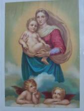 85614-Bibel-Bible-Frau-Woman-The Sistine Madonna-Lithographie-Lithography