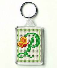 Counted cross stitch Keyring kit, Alphabet Butterfly P