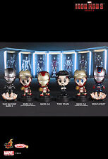 IN STOCK! HOT TOYS Marvel Iron Man 3 Series 2 Cosbaby Cosbabies SET OF 6
