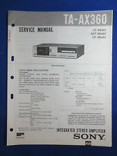SONY TA-AX360 INTEGRATED AMPLIFIER SERVICE  MANUAL FACTORY ORIGINAL GOOD COND