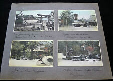 8x 1910 COLOR PHOTOGRAPHS JAPAN MIYAJIMA & CHINA SHANGHAI YANGTZE & HANKOW P261