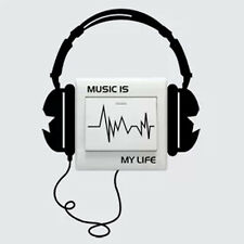 "Chic Nouvelle lettre ""Music Is My Life""  Citation de l'art Mur Autocollant Decor"