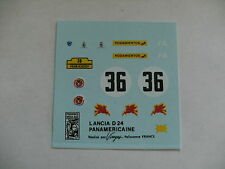 decals decalcomanie lancia d24 panamericaine   1/43