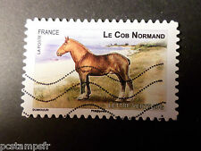 FRANCE 2013, timbre AUTOADHESIF 814, CHEVAL COB NORMAND oblitéré VF STAMP HORSE