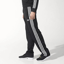 ADIDAS FIREBIRD TRACKSUIT BOTTOMS BLACK WHITE 3 STRIPE SIZE LARGE MENS 34/36 W