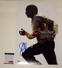 STEVE MCQUEEN 12 YEARS A SLAVE SIGNED AUTOGRAPH MOVIE POSTER PSA/DNA COA