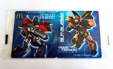 TRANS FORMERS PRIME JAPAN McDONALD'S 3D MINI STICKER 2013 NEW SEALED