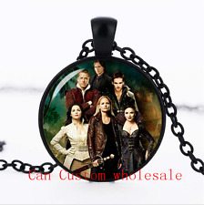 Once upon a time Characters glass Dome necklace black Chain Pendant Necklace