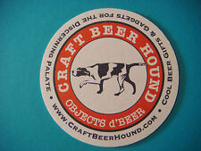 2014 Beer Coaster ~*~ CRAFT BEER HOUND Objects d'Beer ~*~ Gifts, Gadgets ** DOG