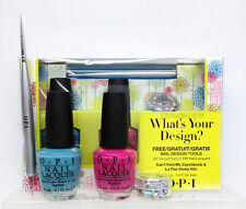 OPI - WHAT'S YOUR DESIGN? - 2 Nail Lacquer NL E75 & NL A20 + FREE Design Tools