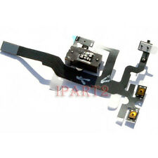 Headphone Audio Jack Power Flex Cable Replacement for Apple iPhone 4S (Black)