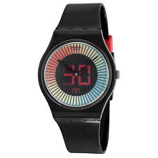 Swatch Speed Around Multi-Colored Dial Black Silicone Unisex Watch GB277