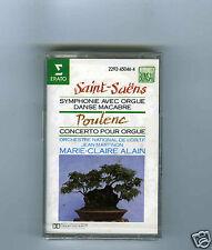 CASSETTE TAPE (NEW) MARIE CLAIRE ALAIN SAINT SAENS POULENC (ERATO)
