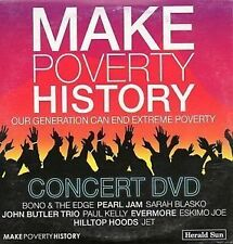MAKE POVERTY HISTORY DVD U2 Hilltop Hoods Pearl Jam BONO JET THE EDGE NEW