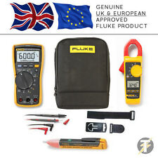 Fluke 117 True RMS Multimeter + 324 Clamp Meter+TPAK3+1AC+C115 Case (FLU-K-CS5)
