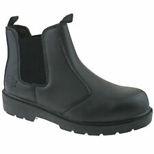 MENS DICKIES DEALER LEATHER SAFETY WORK BOOTS BLACK 11 FA23345