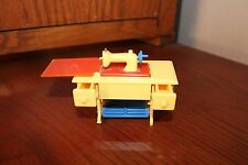 Miniature/Collectible RENWAL Toy Treadle Sewing Machine Plastic(YELLOW/BLUE/RED)