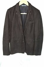 SUPER BEAUTIFUL!!! VINCE  MEN  FITTED NUBUCK  LEATHER JACKET/BLAZER SIZE M