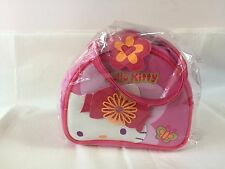 New Sanrio Kimono Hello Kitty Hand Bag Pink Zipper Closure Butterfly