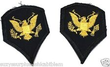 US ARMY Women's SPECIALIST 4 SPC 4 E4 DRESS BLUE PATCH PAIR R1824
