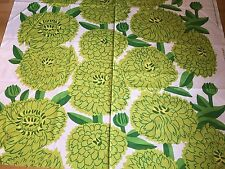 "Marimekko Fabric ""Primavera""  by the Yard, Perfect, New,100% Cotton, Greens"
