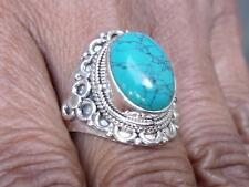 TURQUOISE 925 SILVER RING SIZE M 1/2 * US 6.5 SILVERANDSOUL JEWELLERY