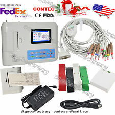 Digital Electrocardiograph 3 channel 12 leads ECG machine+ Software,ECG300G,USA