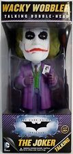 TALKING THE JOKER HEATH LEDGER Batman Dark Knight Trilogy Bobble Head Funko 2013