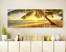 """3PC 16"""" Abstract Wall Decor Art Oil Painting on Canvas NO frame Sunset Beach 41"""