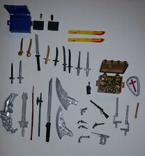Action Figures Loose Lot of Weapons, Treasure, Guns, Swords, Radio, Cell Phones*