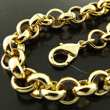 A245 GENUINE REAL 18K YELLOW G/F GOLD SOLID LADIES MENS BELCHER NECKLACE CHAIN