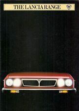 LANCIA 1982-83 UK Opuscolo Vendite sul mercato DELTA TREVI COUPE sempre Monte Carlo Gamma