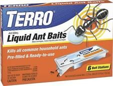 NEW TERRO T300 PACK OF 6 LIQUID ANT BAIT STATION READT TO USE KILLER TRAPS WORKS
