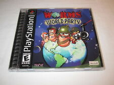 Worms World Party (PlayStation PS1) Black Label Game LN Perfect Complete Mint!