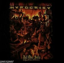 HYPOCRISY dvd cvr HELL OVER SOFIA Official SHIRT MED new