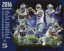 2016 DALLAS COWBOYS NFL COMPOSITE 8X10 TEAM PHOTO PRESCOTT ZEKE ELLIOTT