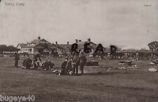 Unknown unit Royal Artillery ? packing away tents in horse lines Barry Camp
