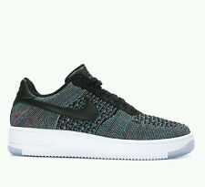 NIKE AIR FORCE 1 ULTRA FLYKNIT LOW (BLACK/GREEN PINK BLAST - UK 8 EUR 42 5 NEW