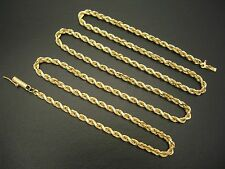 "14K GOLD DIAMOND CUT ROPE CHAIN NECKLACE 24"" - 19.61 GRAMS"