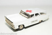 TINPLATE BLECH JAPAN CLOVER FORD STATION WAGON AMBULANCE EXCELLENT CONDITION