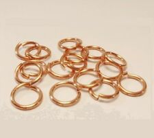 Solid Copper Jump Ring  20Ga Wire 5 MM O/D  260  pcs. 1/2 Oz Saw-Cut Made In USA