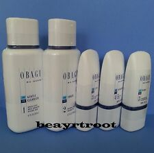 Obagi Nu-Derm Kit Gentle Cleanser + Toner + Clear fx + Exfoderm + Blender fx