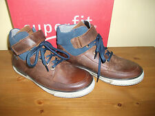 Boys SUPERFIT 207 GORETEX Brown LEATHER Lace BOOT Size UK 1 EUR 33 NEW!