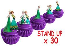 30 disney Frozen Fever  STAND UP Cupcake Cake Topper Edible Paper Decorations
