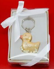An Adorable Yellow Duck Key Chain Keepsake Baby Shower Party Gifts US Seller
