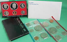 1978 Proof and Uncirculated Annual US Mint Coin Sets PDS 18 Coins FREE US SHIP
