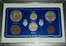 1924 GB Great Britain British Vintage Coin Set (93rd Birthday Gift Birth Year)