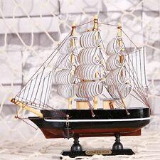 Nautical Handmade Wooden Sailboat Tall Boat Model Dispaly Sailing Ship Decor #11